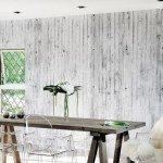 carta parati bianco nero effetto cemento