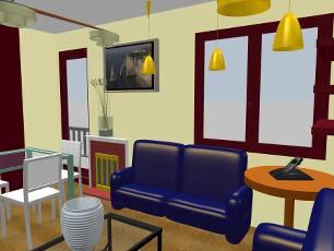 progettazione appartamento roma dettaglio salotto