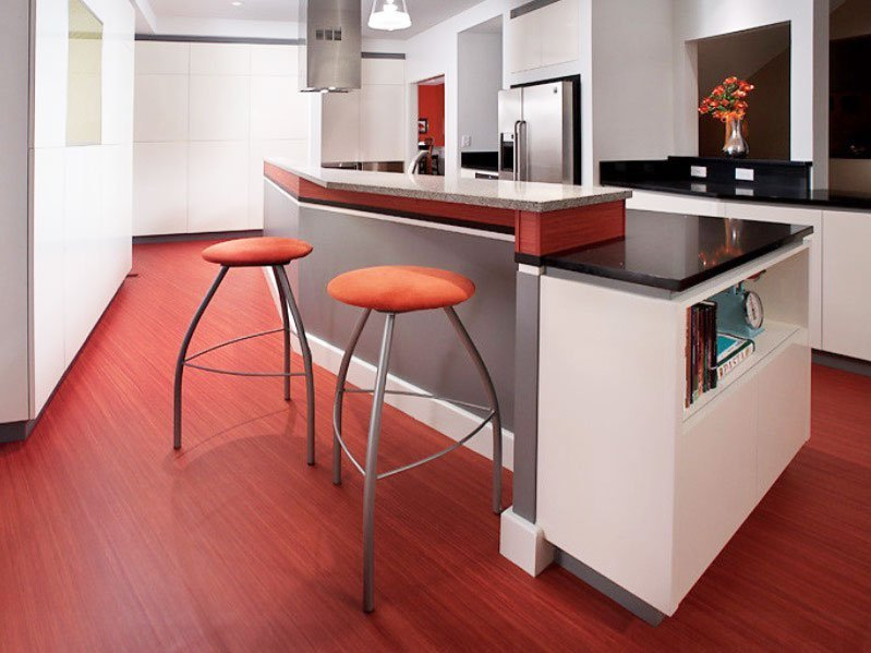 pavimenti cucina vinile