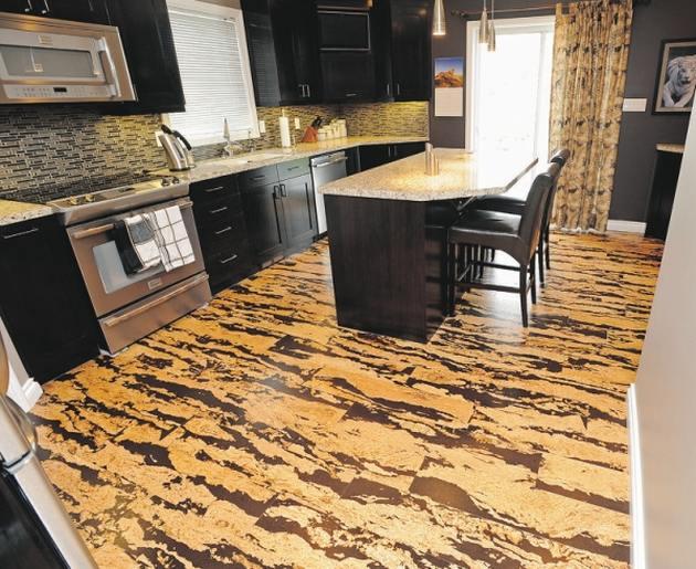pavimenti per cucina sughero